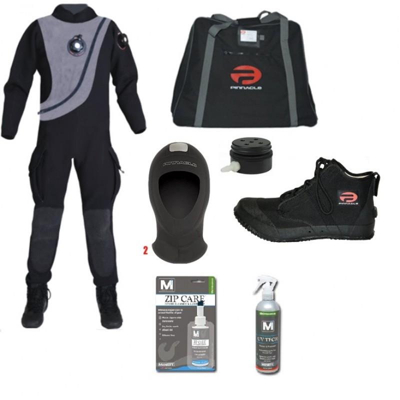 Cave Adventurers - Pinnacle Black Ice Drysuit Package