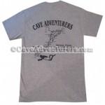 Cave Adventurers Jackson Blue Map T-Shirt *Grey*