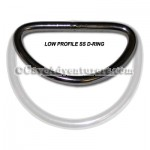 "2"" Low Profile Travel D-Ring *Stainless Steel*"