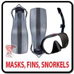 Masks, Fins, Snorkels